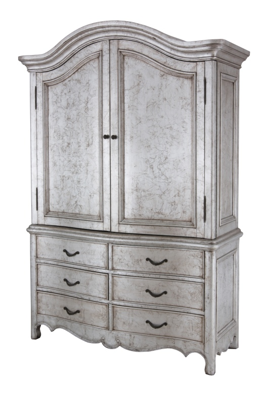 Armoire in Silver Leaf