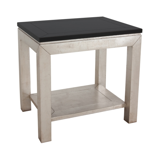 Lorts 320106 side table in onyx and silverleaf