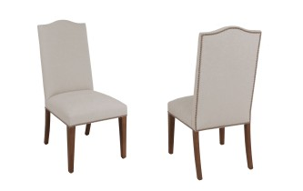"7907 Chair with ""Sandlewood"" fabric"