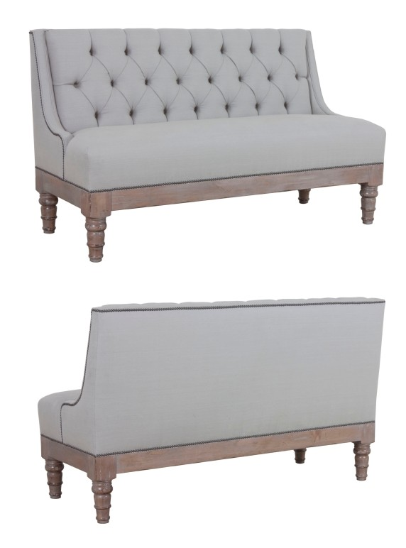 """873 Banquette in """"Greystone"""" finish and in COM """"Silver Mist"""""""