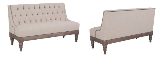 """873 Banquette in COM and """"Greystone"""" finish"""