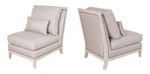 """903 Chair in """"Fawn"""" fabric and """"Bordelais"""" finish"""