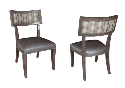 "245 Chairs in COM and ""Greystone"" finish"