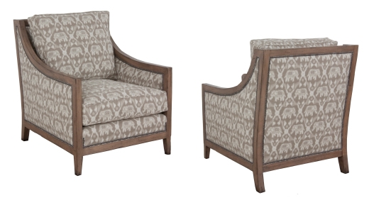 """902 Chair in COM and """"Latte"""" finish"""