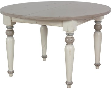 7548L Dining Table in multi-finish - Oyster, Cream Mist, and Powder Blue