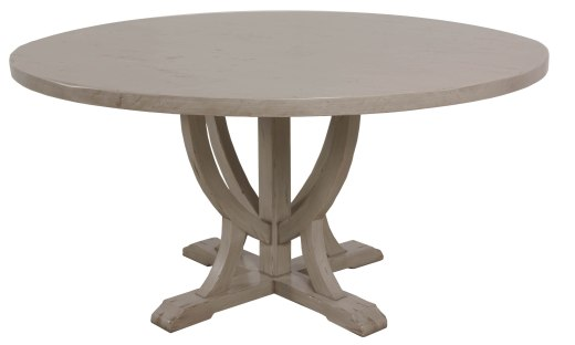 "8615 Dining Table Base and 8360 Dining Tabletop both in ""Oyster"""
