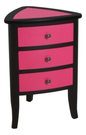 "9709 End Table in ""Pink Flambé "" and ""Onyx"""