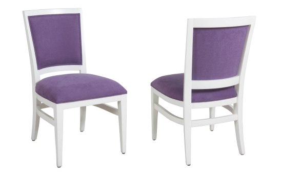 "2404 Side Chair in ""Snowflake"" and COM"