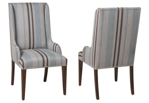 "7904 Arm Chair in ""Chestnut"" finish and COM fabric"