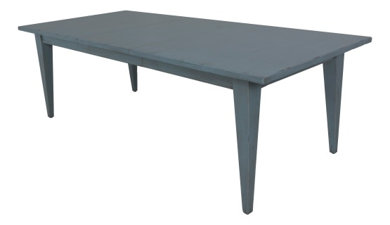 "7272L Tapered Leg Dining Table in ""Sky Blue"""