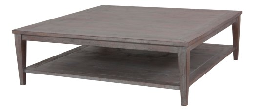 "Custom Tapered Leg Cocktail Table in ""Slate"""