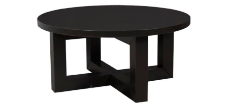 "2116 Cocktail Table Base with Custom Tabletop in ""Java"""