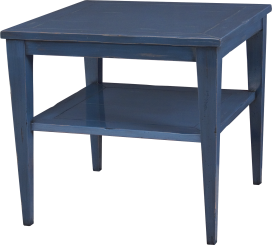 "3671 Tapered Leg Lamp Table in ""Blue Denim"""