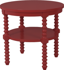 "3875 Spool Leg Lamp Table in ""Brick"""