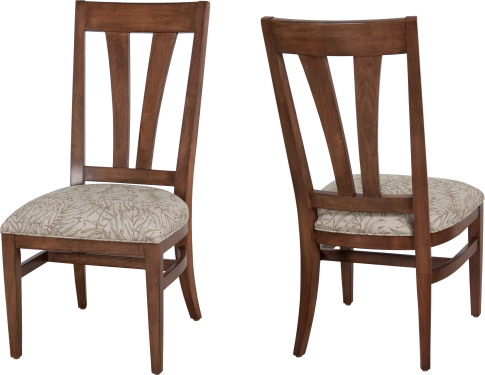 "220104 Side Chair in ""Chestnut"" and COM"
