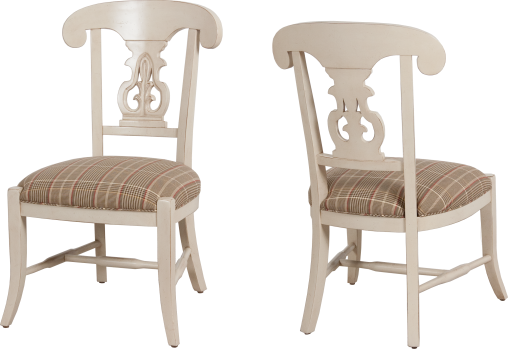 "9604 Side Chair in ""Bordelais"" and COM"