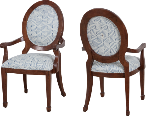 "9784 Arm Chair in ""Fruitwood"" and COM"