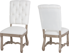 "9793 Side Chair  with tufted back in ""Oyster"""