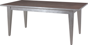7272 Dining Table in Greystone and Silver Leaf