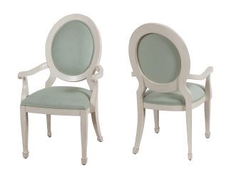 9784 Arm Chair in Cream Mist and COM
