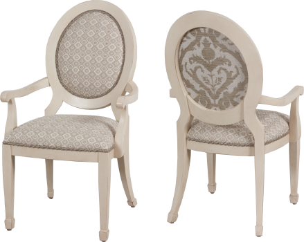 9784 Arm Chair in Bordelais and COM