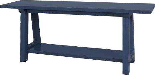 2117 Console Table in Blue Denim
