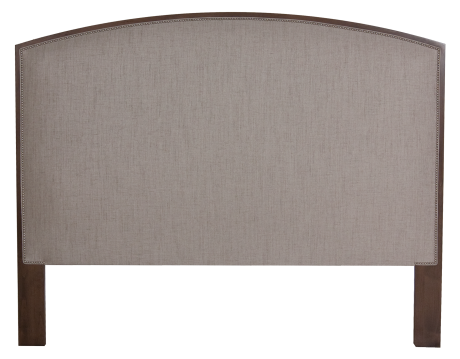 4224HB King Headboard in Mink and Stone Lion Fabric