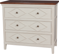 4312 Chest in Cream Mist and Fruitwood