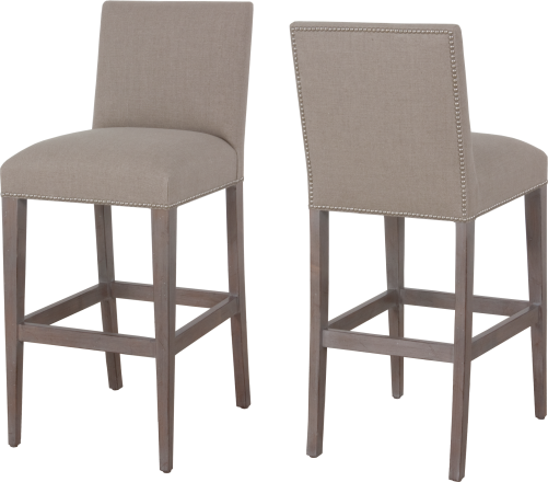 7943 Barstool in Greystone and Keystone fabric