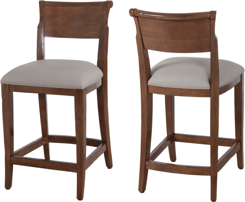 9825 Counter Stool in Chestnut and COM