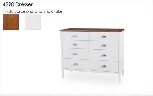 Lorts 4290 Dresser in Barcelona and Snowflake