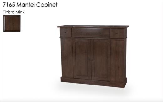 Lorts 7165 Mantel Cabinet in Mink