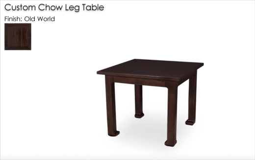 Lorts Custom Chow Leg Table in Old World