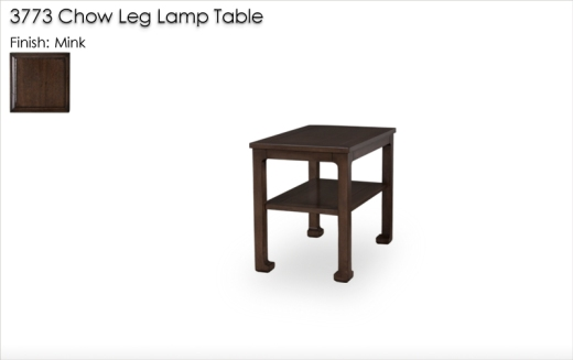 Lorts 3773 Chow Leg Lamp Table in Mink