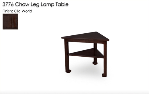 Lorts 3776 Chow Leg Lamp Table in Old World