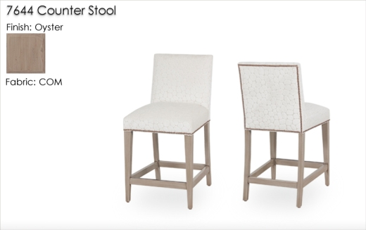 Lorts 7944 Upholstered Clean-Lined Counter Stools in Oyster Finish and Customers Own Material