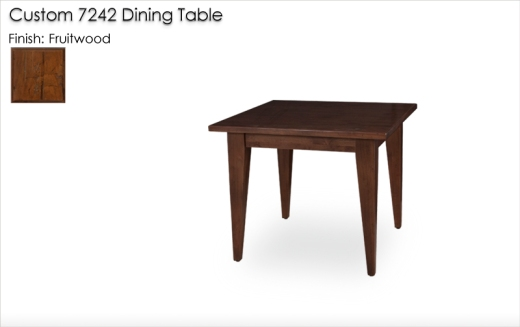 Lorts Custom7242 Square Tapered Leg Dining Table in Fruitwood