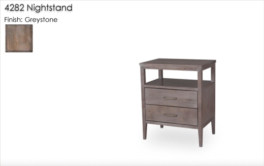 Lorts 4282 Nightstand finished in Greystone