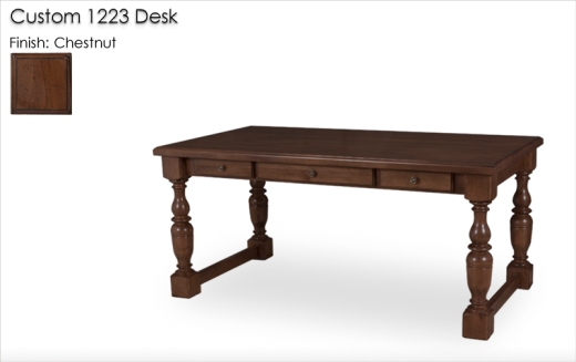 Lorts Custom 1223 Desk finished in Chestnut