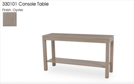 330101 Console Table finished in Oyster