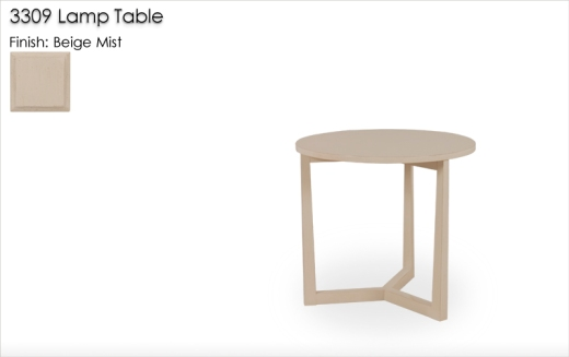3309 Lamp Table finished in Beige Mist