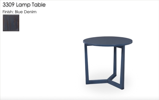 3309 Lamp Table finished in Blue Denim