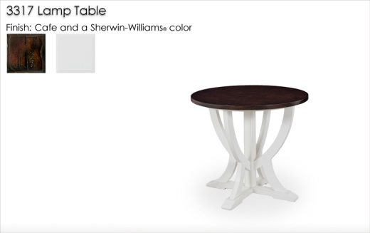 3317 Lamp Table finished in Cafe and a Sherwin-Williams color