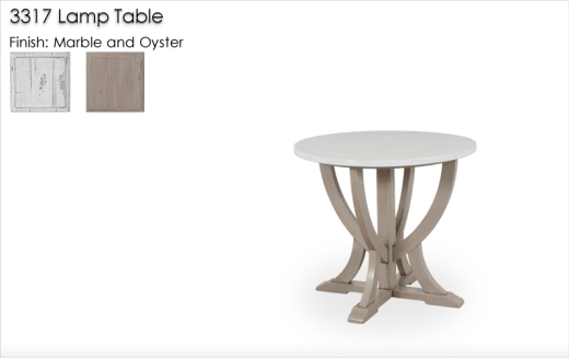 3317 Lamp Table finished in Marble and Oyster