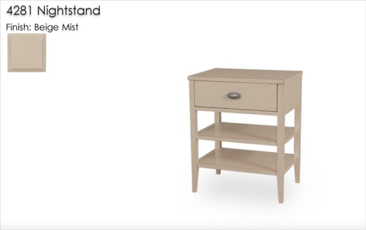 4281 Nightstand finished in Beige Mist