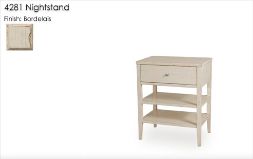 Lorts 4281 Nightstand finished in Lorts Bordelais finish