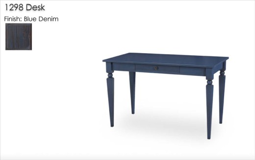 1298 Desk finished in Blue Denim