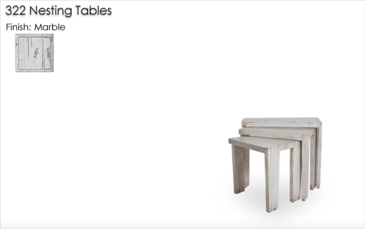 322 Nesting Tables finished in Marble