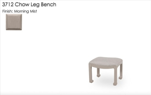 3712 Chow Leg Bench finished in Morning Mist