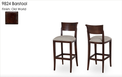 9824 Barstools finished in Old World